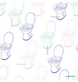 flush toilet seamless pattern vector image vector image