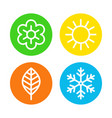 four seasons logo set vector image vector image