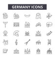 germany line icons signs set outline vector image