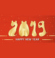 happy new year 2019 with shining background for vector image