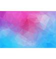 horizontal abstract polygonal banner vector image