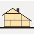 House in cut Flat section house vector image vector image