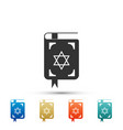 jewish torah book icon on white background vector image vector image