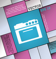 kitchen stove icon sign Modern flat style for your vector image