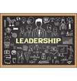 Leadership on chalkboard vector image vector image
