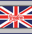 london text with england flag national symbol vector image vector image
