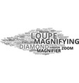 loupe word cloud concept vector image vector image