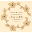 Marriage design template with custom names in vector image