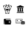 money banking simple related icons vector image