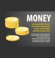 money design banner vector image vector image