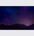 night starry sky with bright stars planets vector image vector image