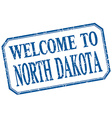 North Dakota - welcome blue vintage isolated label vector image vector image