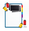 note paper with film vector image vector image