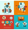Online Education Set vector image