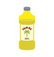 Palm oil bottle Plastic bottle for food vector image