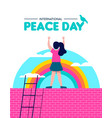 peace day for world children freedom vector image