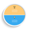 pie chart presentation template with 2 vector image vector image