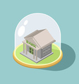 Protection of Bank bank Isometric Building vector image vector image
