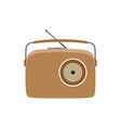 radio vintage retro old music speaker sound vector image vector image