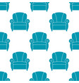 recliner with armrests seamless pattern vector image vector image
