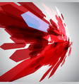 red arrows in motion vector image vector image