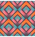 Retro seamless pattern with squares hand drawn vector image vector image