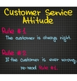 Rules of customer service vector image vector image