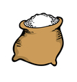 sack of sugar vector image vector image