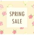 sale bannercute flowers vector image vector image