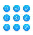 science line icons laboratory chemistry vector image