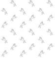 seamless pattern hand drawn unicorn vector image vector image