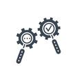 search process glyph icon vector image vector image