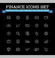 set banking finance money icons payments and vector image