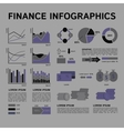 Set of Financial Infographics Elements in Shades vector image vector image