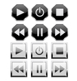 Set of player buttons Square and octagon vector image vector image