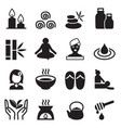 spa alternative therapy icons set vector image vector image