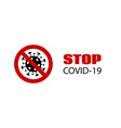 stop covid19-19 banner coronavirus caution vector image