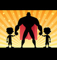 super dad twin boys vector image vector image