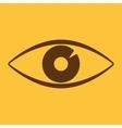 The eye icon Eye symbol Flat vector image