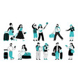 travel people collection people travellers vector image vector image