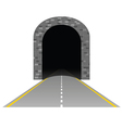tunnel with road two vector image vector image