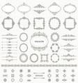 Vintage frames dividers mega set vector image