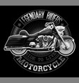 vintage motorcycle t-shirt graphic high detailed vector image