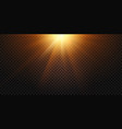 warm light rays magic lights lens flare sun vector image vector image