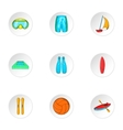 Water stay icons set cartoon style vector image