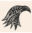 Hand Drawn head of eagle vector image