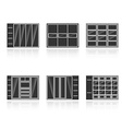 Set of black silhouettes cupboards vector image