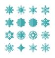 set snowflakes vector image