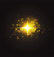 abstract golden star sparkles light effect vector image