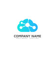atom cloud logo icon design vector image